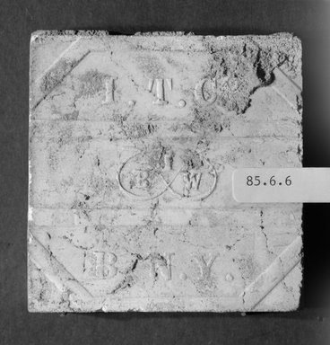 International Tile Company. Tile, 1882-1888. Earthenware, 1/2 x 3 x 3 in. (1.3 x 7.6 x 7.6 cm). Brooklyn Museum, Gift of Florence I. Barnes, 85.6.6. Creative Commons-BY
