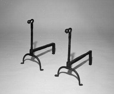 American. Andiron, One of Pair, 18th century. Wrought iron, 18 1/2 x 11 x 16 in. (47 x 27.9 x 40.6 cm). Brooklyn Museum, Gift of R.H. Ellsworth, 85.73.1. Creative Commons-BY