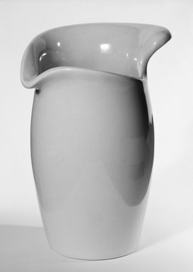 Eva Zeisel (American, born Hungary, 1906-2011). Syrup Pitcher, designed  c. 1945-produced c. 1946. Glazed earthenware, 5 7/8 x 3 1/2 x 4 1/2 in. (14.9 x 8.9 x 11.4 cm). Brooklyn Museum, Gift of Eva Zeisel, 85.75.6. Creative Commons-BY