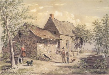 William Rickarby Miller (American, 1818-1893). Old Homestead, View of Brooklyn, 1869. Watercolor and graphite on paper, 13 9/16 x 16 9/16 in. (34.4 x 42.1 cm). Brooklyn Museum, Purchased with funds given by Mr. and Mrs. Leonard L. Milberg, 85.82.1