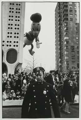 Robert Sefcik (American, born 1948). [Untitled] (Thanksgiving Day Parade Near the Huntington Hartford Gallery of Modern Art at 2 Columbus Circle), 1970. Gelatin silver photograph, Sheet: 14 x 11 in. (35.6 x 27.9 cm). Brooklyn Museum, Gift of Cynthia K. Yanowitz, 85.94.7. © Robert Sefcik