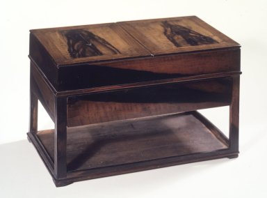 Inkstone Table (Yun Sang), 19th century. Persimmon wood and pine, Overall: 8 5/8 x 8 5/8 x 14 1/2 in. (21.9 x 21.9 x 36.8 cm). Brooklyn Museum, Gift of Mr. and Mrs. John Menke, 86.136a-f. Creative Commons-BY