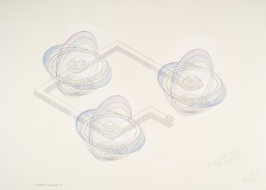 Brooklyn Museum: A Representation on the Second World:  Plan, Isometric and Sections