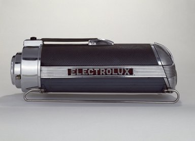 Lurelle Guild (American, 1898-1985). Vacuum Cleaner, ca. 1937. Chromed, polished and enameled steel; cast aluminum; vinyl; rubber, 8 1/2 x 23 x 7 3/4 in.  (21.6 x 58.4 x 19.7 cm). Brooklyn Museum, Gift of Fifty/50, 86.15a-f. Creative Commons-BY