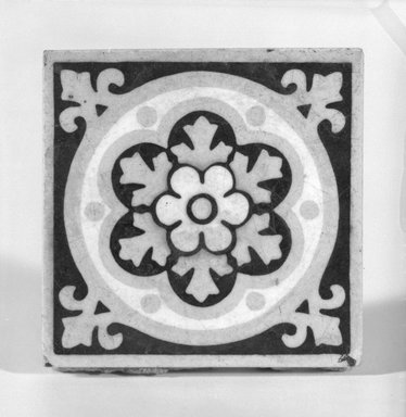 American Encaustic Tile Company Ltd. (1875-1935). Tile, ca. 1880. Glazed earthenware, 3 x 3 in. (7.6 x 7.6 cm). Brooklyn Museum, Anonymous gift, 86.17.2