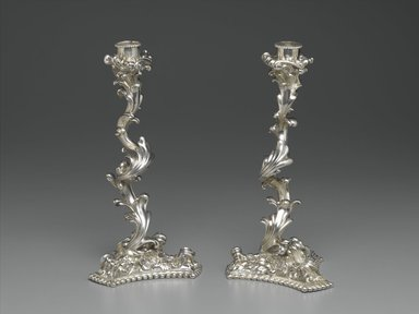Gorham Manufacturing Company (founded 1865). Candlestick, One of Pair, ca. 1897. Silver, 10 1/2 x 5 x 5 in. (26.7 x 12.7 x 12.7 cm). Brooklyn Museum, H. Randolph Lever Fund, 86.181.1. Creative Commons-BY