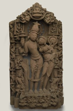 Laksmi Narayana, 10th century. Sandstone, 43 1/2 x 22 1/2 x 7 in. (110.5 x 57.2 x 17.8 cm). Brooklyn Museum, Purchase gift of the Charles Bloom Foundation, Inc., 86.191. Creative Commons-BY