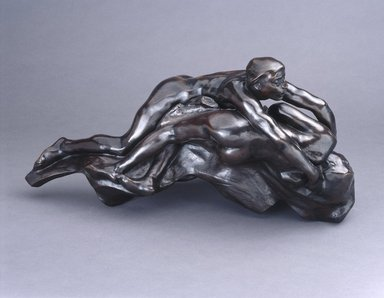 Auguste Rodin (French, 1840-1917). Paolo and Francesca, before 1886, cast 1981. Bronze, 11 3/4 x 23 1/4 x 10 5/8 in.  (29.8 x 59.1 x 27.0 cm). Brooklyn Museum, Gift of the Iris and B. Gerald Cantor Foundation, 86.1. Creative Commons-BY