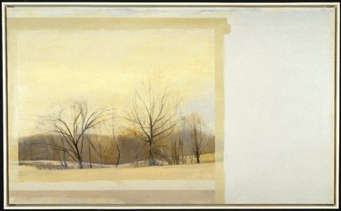 Sylvia Plimack Mangold (American, born 1938). The Inversion, 1984. Oil on linen, 60 x 100 in. (152.4 x 254 cm). Brooklyn Museum, Gift of Henry, Cheryl, Daniel, Michael, and Willie Welt in memory of Abraham Joseph Welt, 86.200. © Sylvia Plimack Mangold