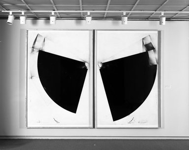 Andrew Topolski (American, born 1952). A Sound Measure/de-Tonation III, 1986. Carbon, pigment, transfertype, and graphite on paper, 94 1/2 x 63 1/2 in. (240 x 161.3 cm). Brooklyn Museum, Purchase gift of Mr. and Mrs. Werner H. Kramarsky, 86.223.1. © artist or artist's estate