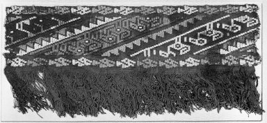 Chancay. Textile Fragment, possibly a Border Fragment, 1532-1700 or 1000-1400. Cotton, camelid fiber, 24 x 11 in. (61 x 27.9 cm). Brooklyn Museum, Gift of the Ernest Erickson Foundation, Inc., 86.224.108. Creative Commons-BY