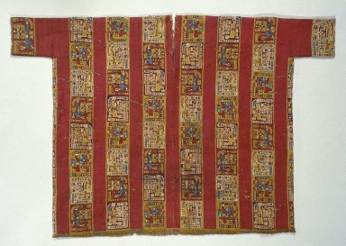 Wari. Tunic, 600-1000. Camelid fiber, cotton, 38 3/16 x 57 1/16 in. (97 x 144.9 cm). Brooklyn Museum, Gift of the Ernest Erickson Foundation, Inc., 86.224.109. Creative Commons-BY