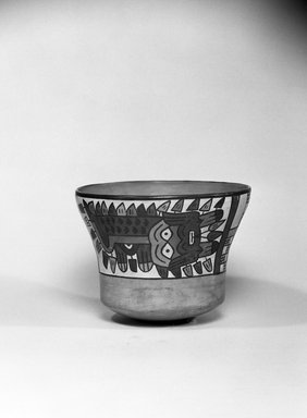 Nasca. Bowl, C.E. 100-300. Ceramic, polychrome slip, 4 1/4 x 5 3/4 x 5 3/4 in. (10.8 x 14.6 x 14.6 cm). Brooklyn Museum, Gift of the Ernest Erickson Foundation, Inc., 86.224.113. Creative Commons-BY