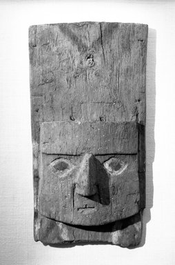 Chimú. Mask, 1000 - 1400. Wood, paint, textile, shell, 6 7/16 x 2 x 11 5/8 in. (16.4 x 5.1 x 29.5 cm). Brooklyn Museum, Gift of the Ernest Erickson Foundation, Inc., 86.224.124. Creative Commons-BY