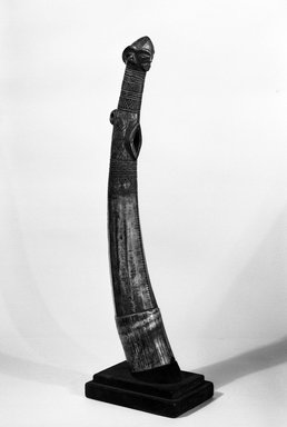Pende. Horn, 19th or 20th century. Ivory, 19 3/4 x 3 in. (50.2 x 7.6 cm). Brooklyn Museum, Gift of the Ernest Erickson Foundation, Inc., 86.224.145. Creative Commons-BY