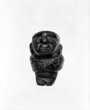 Figurine, 1000 -1470. Turquoise, 2 1/4 x 1 1/2 in. Brooklyn Museum, Gift of the Ernest Erickson Foundation, Inc., 86.224.165. Creative Commons-BY