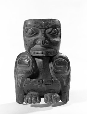 Tlingit (Native American). Bird Figurine, 19th century. Wood, resin, paint, 11.7 x 8.0 x 3.8 cm / 4 5/8 x 3 1/8 x 1 1/2 in. Brooklyn Museum, Gift of the Ernest Erickson Foundation, Inc., 86.224.177. Creative Commons-BY