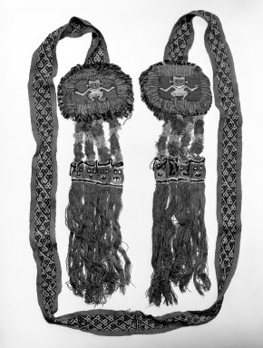 Chancay. Belt or possible Headband, 1000-1532. Cotton, camelid fiber, 6 1/4 x 92 in. (15.9 x 233.7 cm), includes tassels. Brooklyn Museum, Gift of the Ernest Erickson Foundation, Inc., 86.224.182. Creative Commons-BY