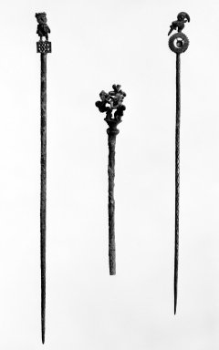 Chimú. Tupu, 1000-1500. Silver, Length: 10 7/16 in. Brooklyn Museum, Gift of the Ernest Erickson Foundation, Inc., 86.224.184. Creative Commons-BY
