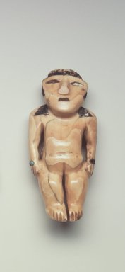 Nasca. Figurine, C.E. 300-700. Ivory, shell, stone, resin, pigment, turquoise, 3 x 1 1/8 x 3/4 in. (7.6 x 2.9 x 1.9 cm). Brooklyn Museum, Gift of the Ernest Erickson Foundation, Inc., 86.224.196. Creative Commons-BY