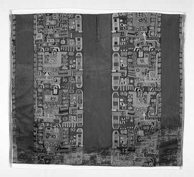 Wari. Tunic, C.E. 600-1000. Cotton, camelid fiber, 39 x 43 11/16 in.  (99 x 111 cm). Brooklyn Museum, Gift of the Ernest Erickson Foundation, Inc., 86.224.1. Creative Commons-BY