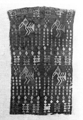 Chimú. Textile Fragment, 1000-1532. Cotton, camelid fiber, 13 x 7 1/2 in. (33 x 19.1 cm). Brooklyn Museum, Gift of the Ernest Erickson Foundation, Inc., 86.224.3. Creative Commons-BY