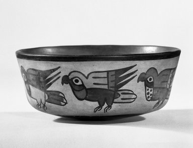 Nasca. Bowl, C.E. 200 - 700. Ceramic, bichrome slip, 2 7/16 x 5 5/8 in. (6.2 x 14.3 cm). Brooklyn Museum, Gift of the Ernest Erickson Foundation, Inc., 86.224.53. Creative Commons-BY