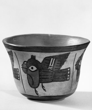 Nasca. Bowl, C.E. 200 - 700. Ceramic, polychrome slip, 3 1/4 x 4 3/4 in. (8.3 x 12.1 cm). Brooklyn Museum, Gift of the Ernest Erickson Foundation, Inc., 86.224.56. Creative Commons-BY