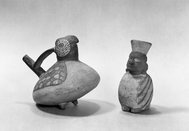 Nasca. Effigy Vessel, 100 B.C.E. - A. D. 200. Ceramic, polychrome slip, 5 11/16 x 5 1/8 x 6 1/8in. (14.4 x 13 x 15.6cm). Brooklyn Museum, Gift of the Ernest Erickson Foundation, Inc., 86.224.57. Creative Commons-BY