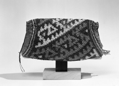 Chancay ( Attrib.  by N. Kajitani 1993). Hat Fragment, Cap, or Hairnet, 1000-1532. Cotton, 4 5/16 x 10 1/4 in. (11 x 26 cm). Brooklyn Museum, Gift of the Ernest Erickson Foundation, Inc., 86.224.92. Creative Commons-BY