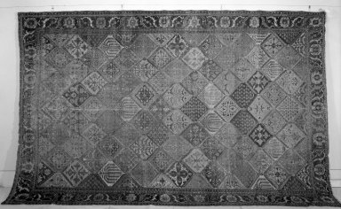 Garden Carpet, 17th-18th century. White cotton warp and weft, wool pile, 190 x 118in. (482.6 x 299.7cm). Brooklyn Museum, Gift of the Ernest Erickson Foundation, Inc., 86.227.117. Creative Commons-BY