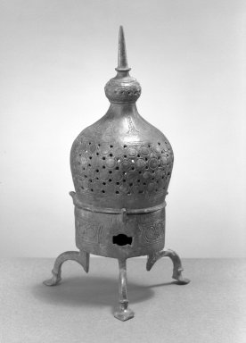 Incense Burner, 12th century. Bronze, incised and openwork decoration, 10 x 4in. (25.4 x 10.2cm). Brooklyn Museum, Gift of the Ernest Erickson Foundation, Inc., 86.227.122. Creative Commons-BY