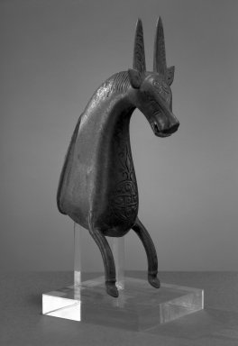 Foot in the Form of a Horse, 11th-12th century. Bronze, cast, engraved, 6 1/4 x 2 1/8 in. Brooklyn Museum, Gift of the Ernest Erickson Foundation, Inc., 86.227.124. Creative Commons-BY
