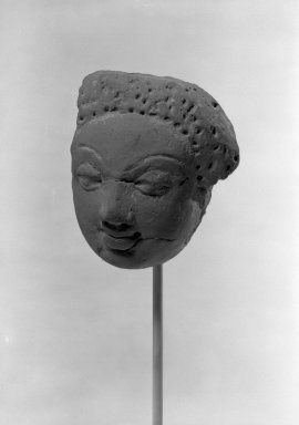 Head, 5th century. Terracotta, 3 3/4 x 3in. (9.5 x 7.6cm). Brooklyn Museum, Gift of the Ernest Erickson Foundation, Inc., 86.227.146. Creative Commons-BY