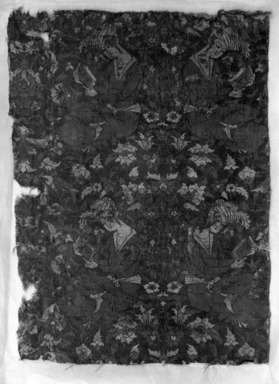 Textile Fragment with a Young Man Reading, 17th century or later. Silk and cotton, 10 x 14in. (25.4 x 35.6cm). Brooklyn Museum, Gift of the Ernest Erickson Foundation, Inc., 86.227.147. Creative Commons-BY