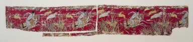 Textile Fragment with Hunter on Horseback, 17th-century style. Silk brocade, 10 x 17 1/2in. (25.4 x 44.5cm). Brooklyn Museum, Gift of the Ernest Erickson Foundation, Inc., 86.227.155. Creative Commons-BY