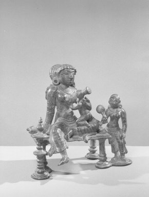 Yasoda-Krishna Group, 13th century. Bronze, 5 5/8 x 3 1/4in. (14.3 x 8.3cm). Brooklyn Museum, Gift of the Ernest Erickson Foundation, Inc., 86.227.25. Creative Commons-BY
