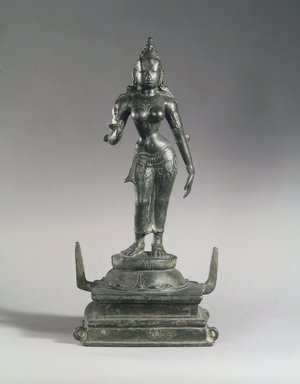 Parvati, 10th century. Bronze, with base: 16 3/4 in. (42.5 cm). Brooklyn Museum, Gift of the Ernest Erickson Foundation, Inc., 86.227.27. Creative Commons-BY