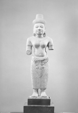 Female Figure, 13th century or later. Gray sandstone, 31 1/2 x 10 x 4 1/2 in. (80 x 25.4 x 11.5 cm). Brooklyn Museum, Gift of the Ernest Erickson Foundation, Inc., 86.227.38. Creative Commons-BY