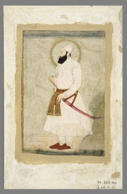 Minuchihr. Portrait of Abu'l Hasan, the Last Sultan of Golconda, late 17th-early 18th century. Opaque watercolors and gold on paper, sheet: 11 3/4 x 7 5/8 in.  (29.8 x 19.4 cm). Brooklyn Museum, Gift of the Ernest Erickson Foundation, Inc., 86.227.50