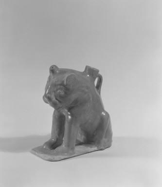 Aquamanile in the Form of a Lion, 12th century. Ceramic, glaze, 7 11/16 x 4 5/16 x 6 7/8 in. (19.5 x 11 x 17.5 cm). Brooklyn Museum, Gift of the Ernest Erickson Foundation, Inc., 86.227.6. Creative Commons-BY