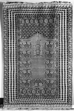 Prayer Rug, 18th century. Wool, Old Dims: 74 x 49 in. (188 x 124.5 cm). Brooklyn Museum, Gift of the Ernest Erickson Foundation, Inc., 86.227.93. Creative Commons-BY