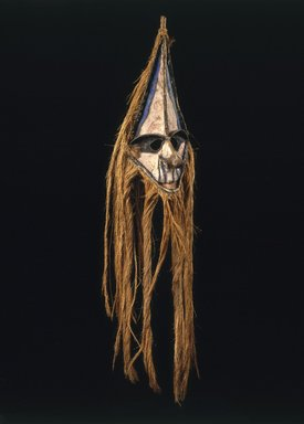 Ambrym. Mask (Rom), 19th century. Palm spathe, bamboo, coconut fiber, hemp, pigment, 37 3/4 x 8 x 9 in. (95.9 x 20.3 x 22.9 cm). Brooklyn Museum, Gift of Evelyn A. J. Hall and John A. Friede, 86.229.5. Creative Commons-BY