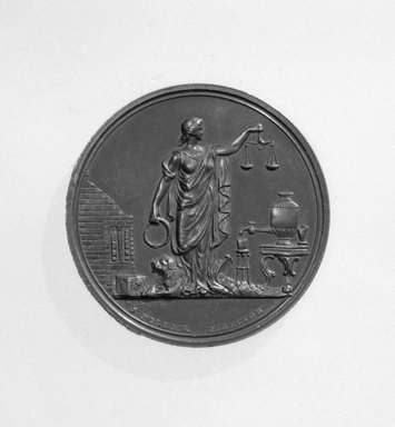 William Barber (American, born England, 1807-1879). U. S. Mint Annual Assay Medal, 1870. Bronze, 1 3/8 x 1 3/8 x 1/8 in. (3.5 x 3.5 x 0.3 cm). Brooklyn Museum, Gift of M. Christmann Zulli, 86.248.7. Creative Commons-BY