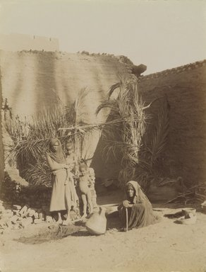 Antonio Beato (Italian and British, after 1832-1906). Famille Barbarien, 19th century. Albumen silver photograph, image/sheet: 10 7/16 x 7 15/16 in. (26.5 x 20.1 cm). Brooklyn Museum, Gift of Alan Schlussel, 86.250.27