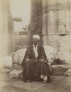 Antonio Beato (Italian and British, after 1832-1906). Yousouf, 19th century. Albumen silver photograph, image/sheet: 10 1/2 x 7 15/16 in. (26.6 x 20.2 cm). Brooklyn Museum, Gift of Alan Schlussel, 86.250.29