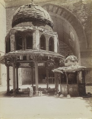 Antonio Beato (Italian and British, after 1832-1906). Fountain in Mosque of Sultan Hassan, 19th century. Albumen silver photograph, image/sheet: 10 5/16 x 8 1/8 in. (26.2 x 20.6 cm). Brooklyn Museum, Gift of Alan Schlussel, 86.250.31