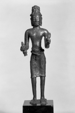 Standing Maitreya. Bronze, 8 1/2 x 1 3/4 x 7/8 in. (21.6 x 4.5 x 2.3 cm). Brooklyn Museum, Gift of Mr. and Mrs. Edward Greenberg, 86.259.2. Creative Commons-BY