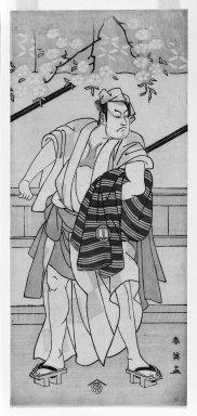 Katsukawa Shunei (Japanese, 1762-1819). Sakata Hangoro, ca. 1770. Woodblock print, 12 3/4 x 5 11/16 in. (32.3 x 14.5 cm). Brooklyn Museum, Gift of Mr. and Mrs. Ran Hettena, 86.263.7
