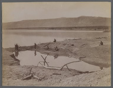 View from Site in Northern Africa or Syria, 19th century. Albumen silver photograph, 8 1/2 x 11 in. (21.6 x 28 cm). Brooklyn Museum, Gift of Samuel Kirschenbaum, 86.265.11
